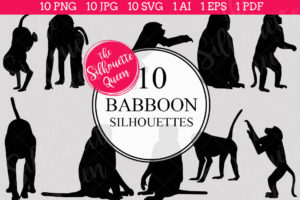 Babboon Silhouettes Clipart