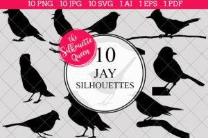 Jay Silhouettes Clipart