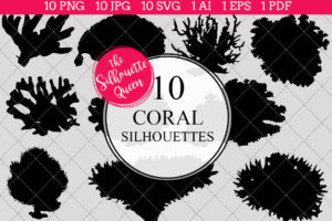 Coral Silhouettes Clipart