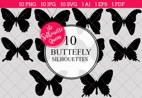 Butterfly Silhouettes Clipart