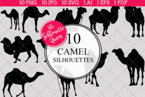 Camel Silhouettes Clipart
