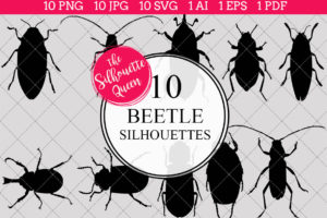 Beetle Silhouettes Clipart