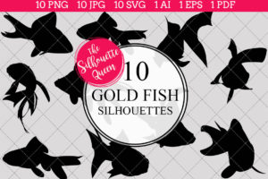 Goldfish Silhouettes Clipart