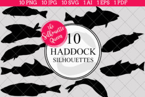 Haddock Silhouettes Clipart