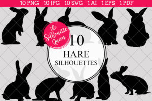 Hare Silhouettes Clipart