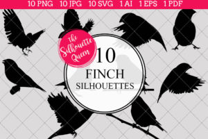 Finch Silhouettes Clipart