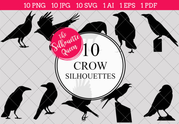 Crow Silhouettes Clipart