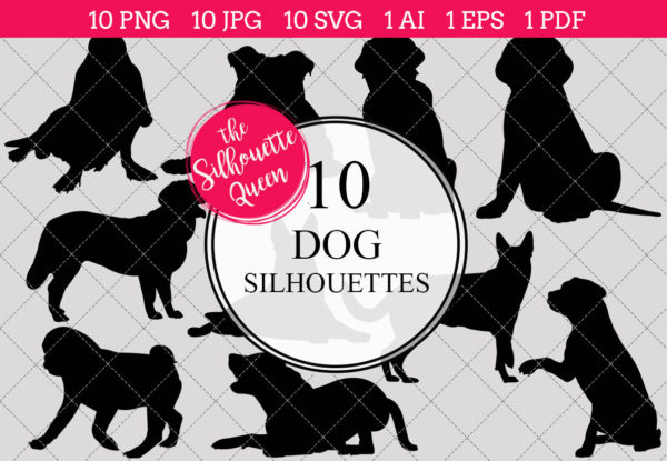 Dog Silhouettes Clipart
