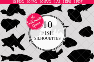 Fish Silhouettes Clipart