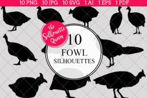 Fowl Silhouettes Clipart