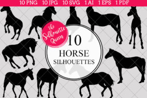 Horse Silhouettes Clipart