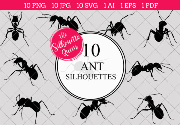 Ant Silhouettes Clipart