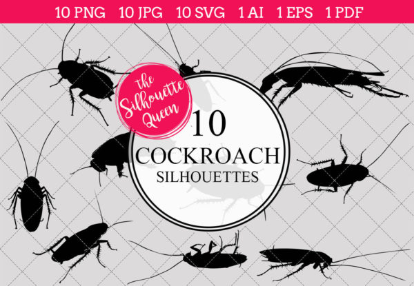 cockroach Silhouettes Clipart