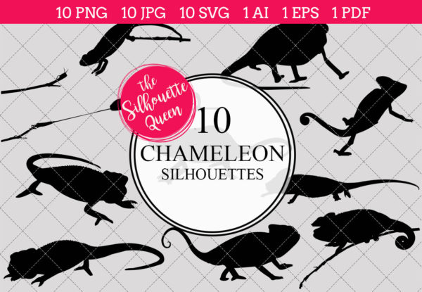 Chameleon Silhouettes Clipart