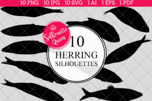 Herring Silhouettes Clipart