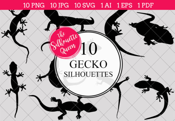 Gecko Silhouettes Clipart