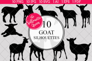 Goat Silhouettes Clipart