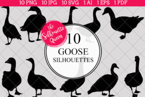 Goose Silhouettes Clipart