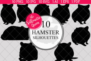 Hamster Silhouettes Clipart