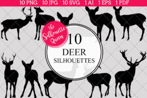 Deer Silhouettes Clipart