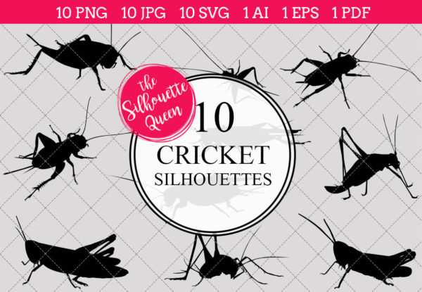 Cricket Silhouettes Clipart