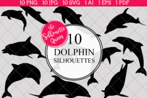Dolphin Silhouettes Clipart