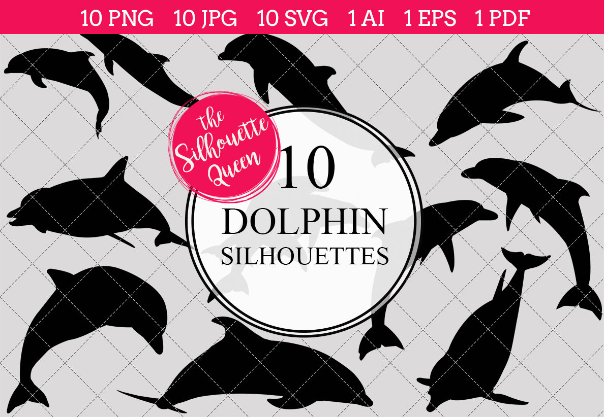 dolphin silhouette clipart clip art ai eps svgs jpgs pngs pdf