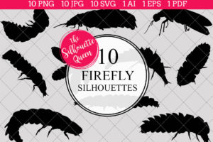 Firefly Silhouettes Clipart
