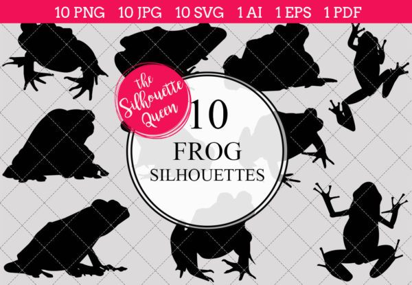 Frog Silhouettes Clipart