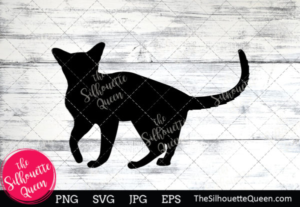 Abyssinian Cat  Silhouette Clipart