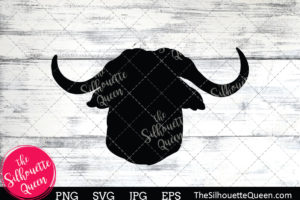 African buffalo  Silhouette Clipart
