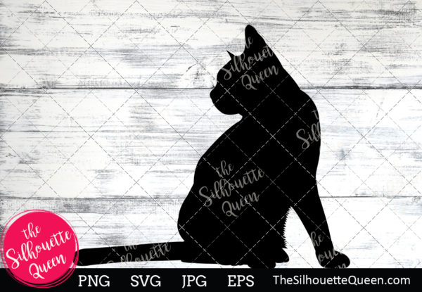 American Shorthair Cat  Silhouette Clipart