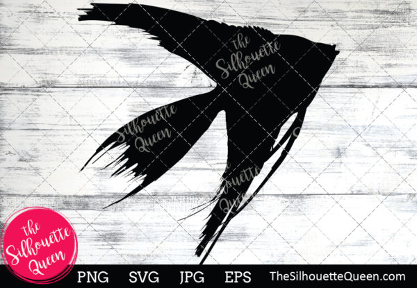 Angel fish  Silhouette Clipart