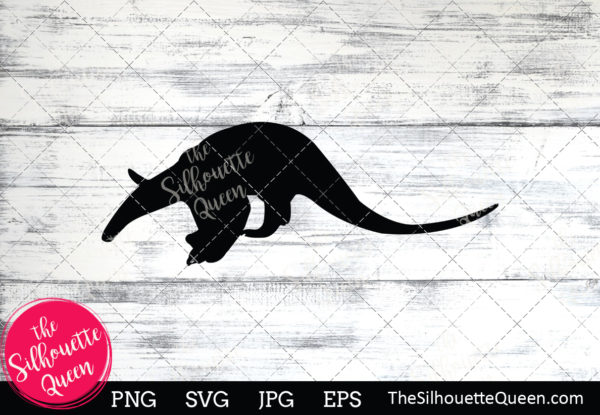 Anteater  Silhouette Clipart