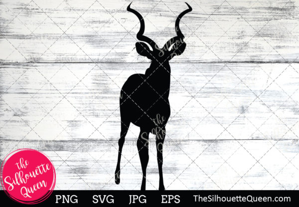 Antelope  Silhouette Clipart