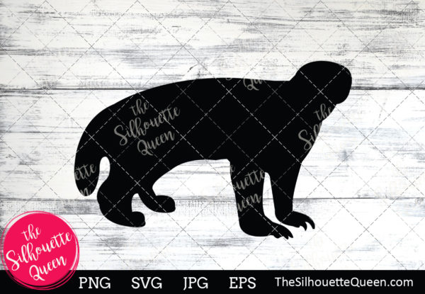 Badger  Silhouette Clipart