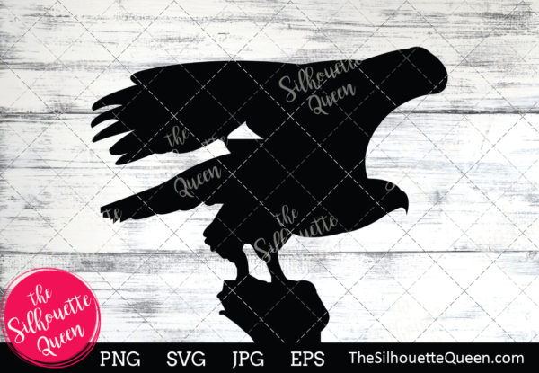Bald eagle  Silhouette Clipart