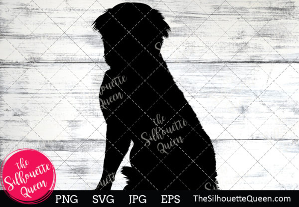 Bernese Mountain Dog  Silhouette Clipart