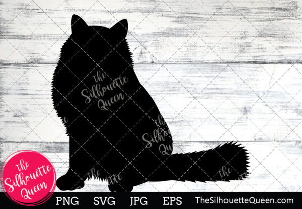 Birman Cat  Silhouette Clipart