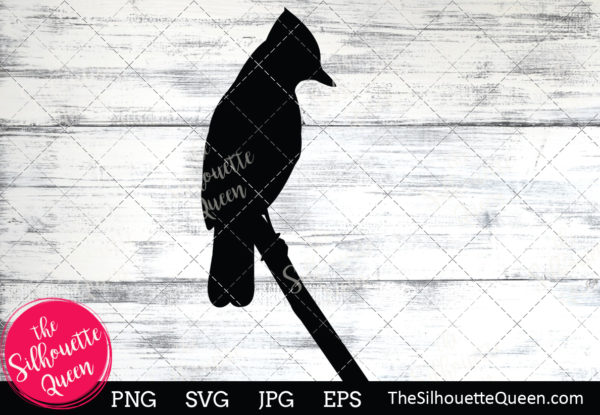 Blue jay  Silhouette Clipart