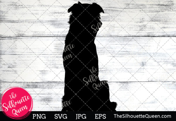 Border Collie Dog  Silhouette Clipart