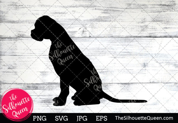 Boxer Dog  Silhouette Clipart