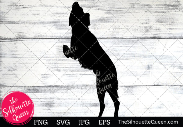 Brittany Spaniel Dog  Silhouette Clipart