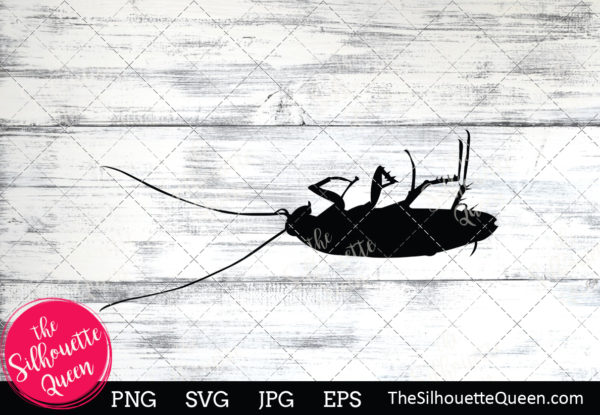 Cockroach  Silhouette Clipart