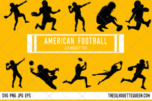 American football silhouette