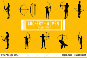 Woman Archery silhouette