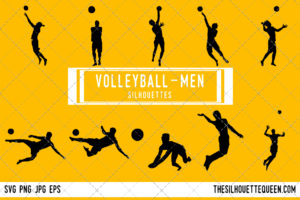Man Beach Volleyball silhouette