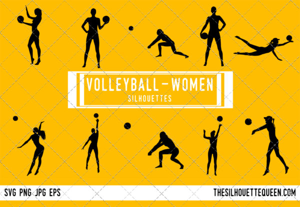 Woman Beach Volleyball silhouette