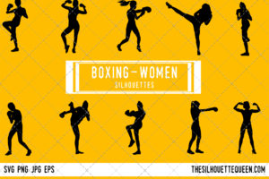 Woman Boxing silhouette