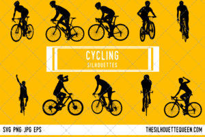 Cycling silhouette